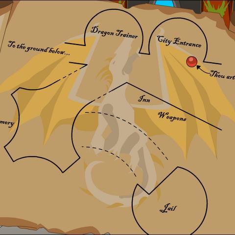 Old Map of Dragonsgrasp.