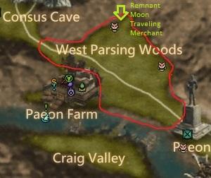 West Parsing Woods Map