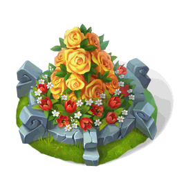 File:Flowerbed with Yellow RosesDecor.png
