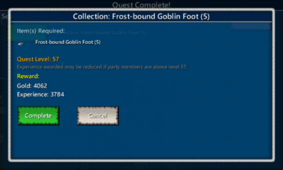Collection-Frost-bound Goblin Foot