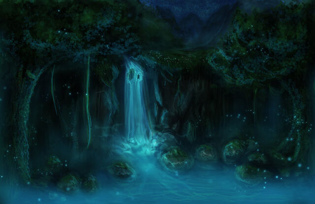 File:Fantasy forest speedpaint v2 night by sandedfaceless-d4sp06j.jpg