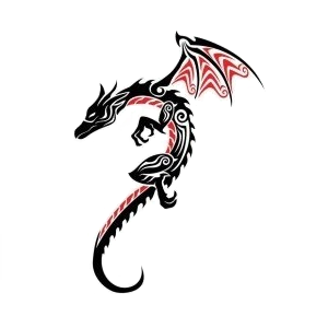 File:Tribal-dragon.png
