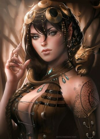 File:Tattoos women paintings assassin assassins fantasy art drake artwork drawings long ears airbrushed s www.wallpaperhi.com 35.jpg