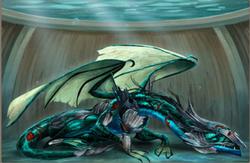 Injured Water Dragon