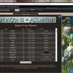 these are the newest realms as of 5/4.2013