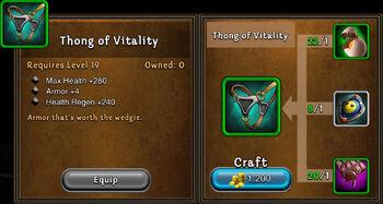 Thong of vitality