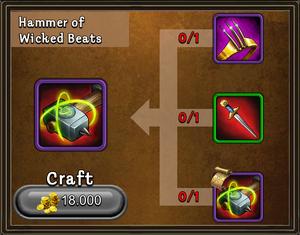 Craft hammer of wicked beats