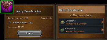Melty chocolate bar