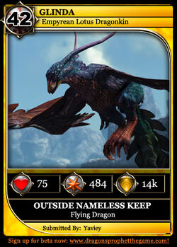 Dragon Card Flying Example