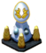 Snowy Gold Pedestal