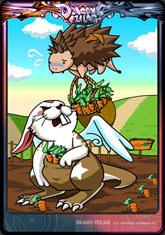 Card dochi-rabbit