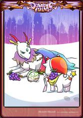 Card xmas dragon rainbow