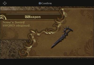 Nowe's Sword