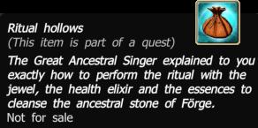 Ritual hollows