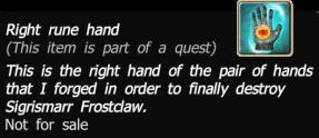 Right rune hand