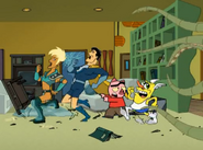 The Drawn Together Guys run for their lives