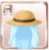 Protective Straw Hat Blue