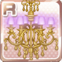 Square Chandelier Pink & Gold