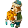 Bear with tangerines deco