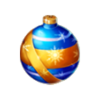 Blue christmas tree bauble