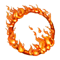 Coll explosive fiery circle