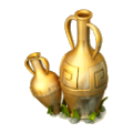 Golden vase deco