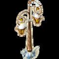 Snowy copper lantern deco