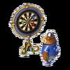 Darts-playing bear