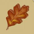 Coll fall oak leaf
