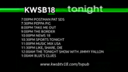 KWSB 18 tonight lineup 24 july 2015