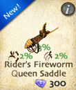 Rider's Fireworm Queen Saddle