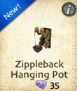 Zippleback Hanging Pot
