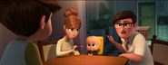 Boss Baby looking at Tim