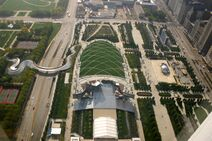 Chicago above millennium park