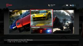 DRIVECLUB game modes menu