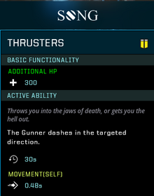 Thrusters Gear Card