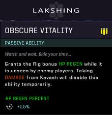 Obscure vitality gear