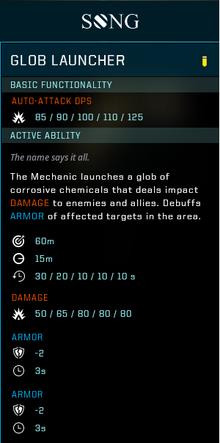 Glob launcher gear