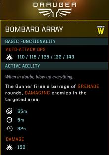Bombard Array gear