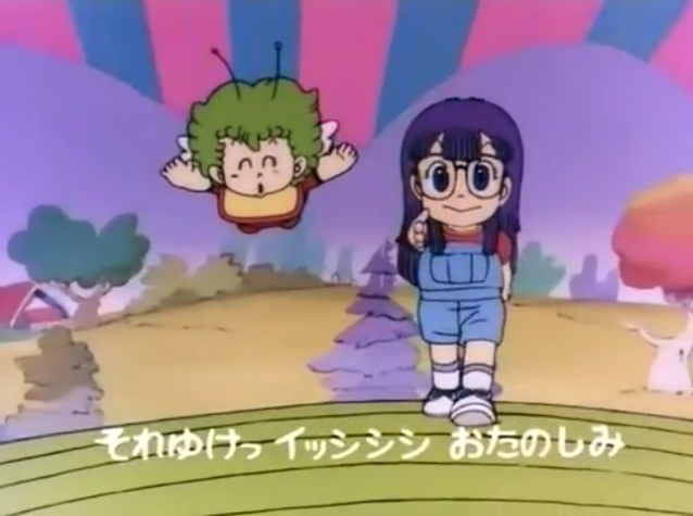File:DRS Intro Arale and Gatchan.png