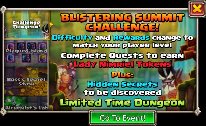 Blistering Summit Challenge