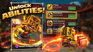 Unlock abilities