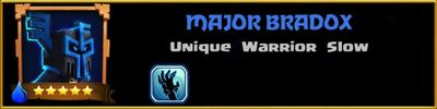 Profile Major Bradox
