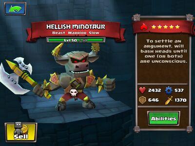 Hellish Minotaur Lvl 50
