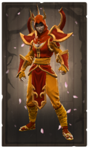 Austere fire ruby mantle