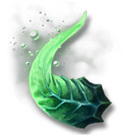Veridian demon horn
