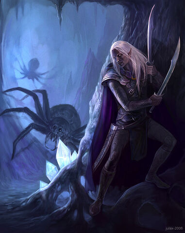 File:In the Cave Drizzt Do Urden by CG Warrior.jpg