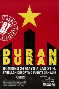 999 Estadio Muncipal Fuente de San Luis, Valencia (Spain) - 24 May 1987 poster duran duran concer discogs wiki