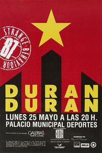 Poster duran duran duran Palacio de los Deportes, Barcelona, Spain