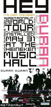 Poster duran duran Dutch tour poster